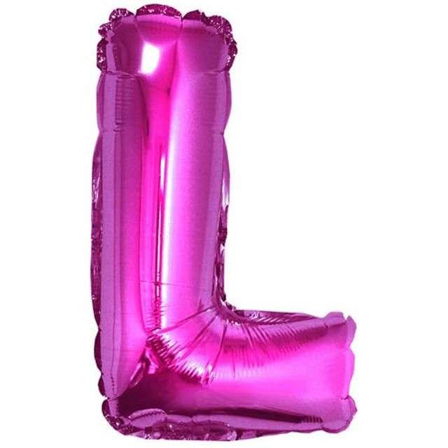 """Balon foliowy litera L, 14"""", GODAN, różowy"""