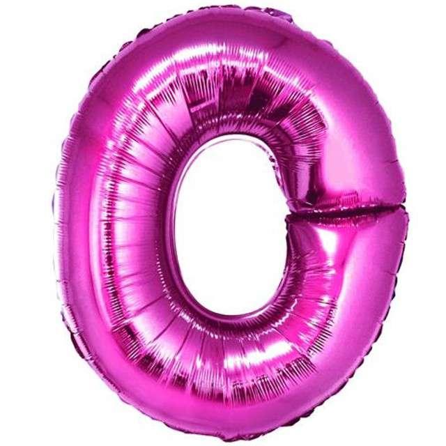 """Balon foliowy litera O, 14"""", GODAN, różowy"""