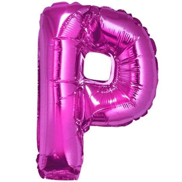 """Balon foliowy litera P, 14"""", GODAN, różowy"""
