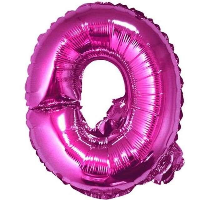 """Balon foliowy litera Q, 14"""", GODAN, różowy"""