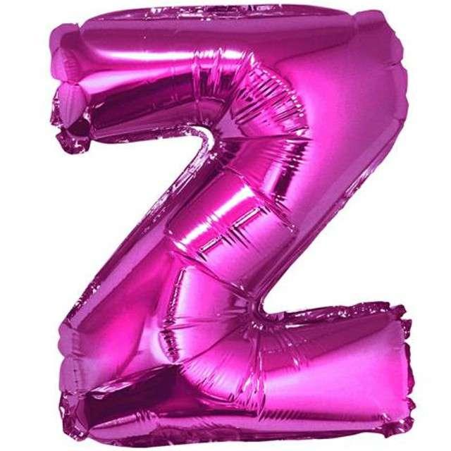 """Balon foliowy litera Z, 14"""", GODAN, różowy"""