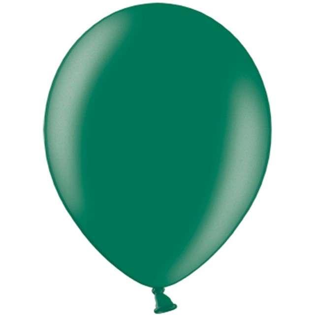 "Balony ""Metallic"", zielony butelkowy, 12"" STRONG,  10 szt"