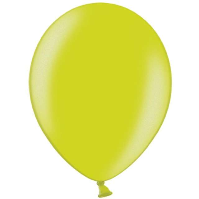 """Balony """"Metallic"""", zielone limonkowe, 12"""" STRONG,  10 szt"""