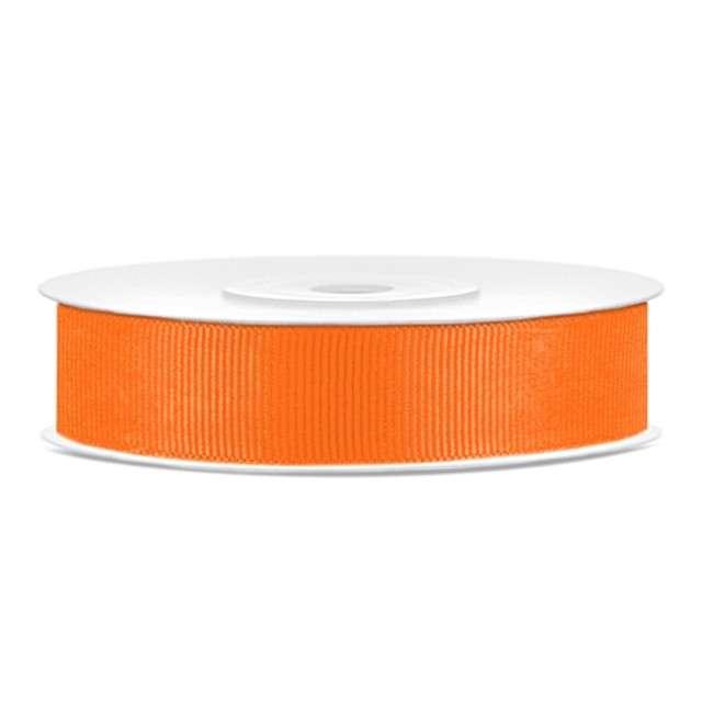Tasiemka rypsowa, pomarańczowy, 15mm/25m