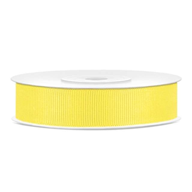 Tasiemka rypsowa, żółta, 15mm/25m