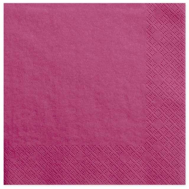 """Serwetki """"Dinner Classic"""", rózowe ciemne, 40 cm, 20 szt"""
