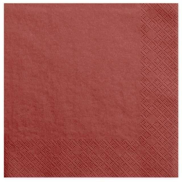 """Serwetki """"Dinner Classic"""", czerwone, 40 cm, 20 szt"""