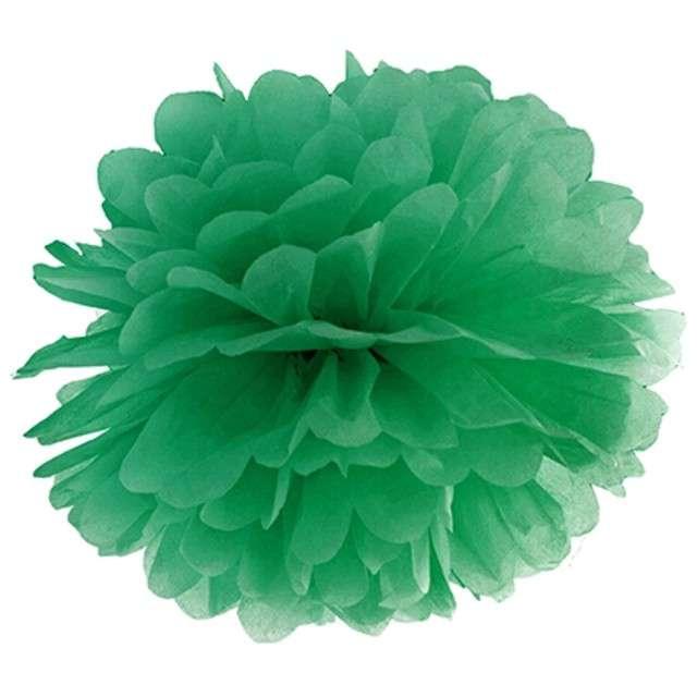 """Pompon bibułowy """"Classic"""", zielony szmaragdowy, 35 cm"""