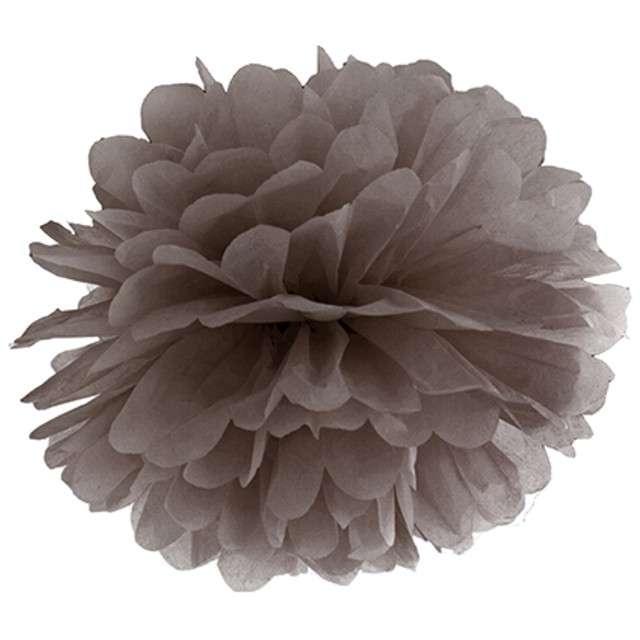 """Pompon bibułowy """"Classic"""", brązowy, PartyDeco, 35 cm"""