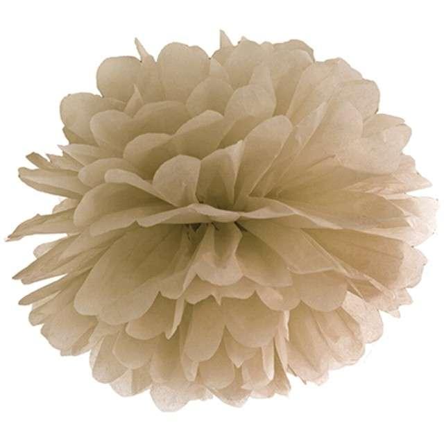 """Pompon bibułowy """"Classic"""", karmelowy, PartyDeco, 35 cm"""