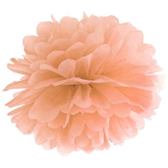 """Pompon bibułowy """"Classic"""", brzoskwiniowy, 25 cm"""