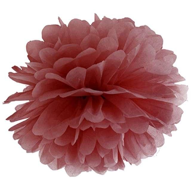 """Pompon bibułowy """"Classic"""", marsala, 25 cm"""