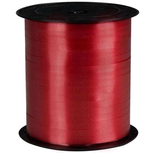 Wstążka pastelowa wąska 0,5cm x 250m, czerwona