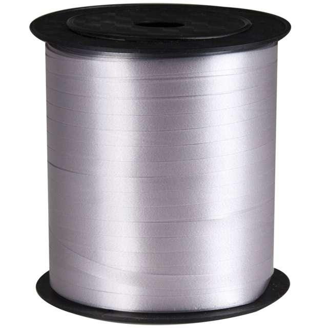 Wstążka pastelowa wąska 0,5cm x 250m, srebrna