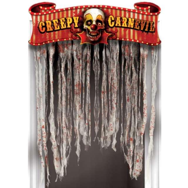 """Kurtyna na drzwi """"Horror Creepy Carnevil"""", 137 x 96 cm"""