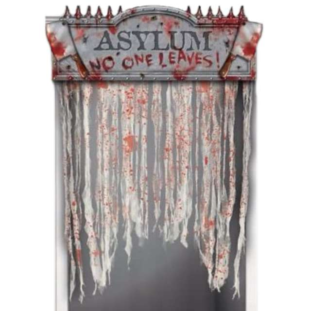 """Kurtyna na drzwi """"Horror Asylum"""", 137 x 96 cm"""
