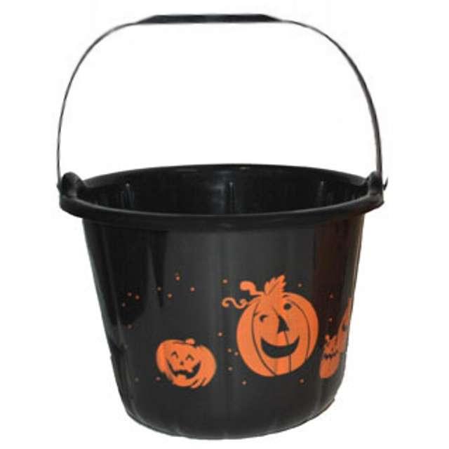 """Wiaderko na cukierki """"Halloween XL"""", czarne, 23 cm"""