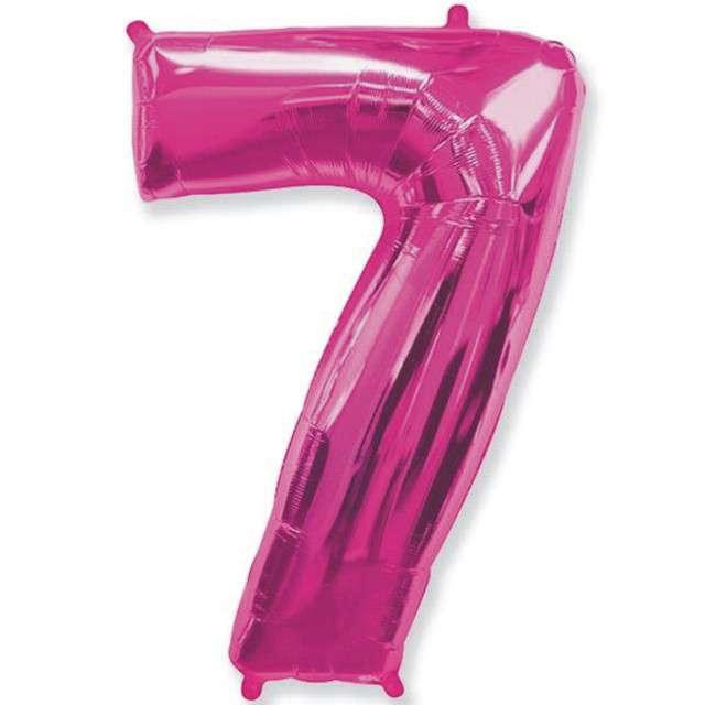 """Balon foliowy cyfra 7, różowy, FLEXMETAL, 40"""""""