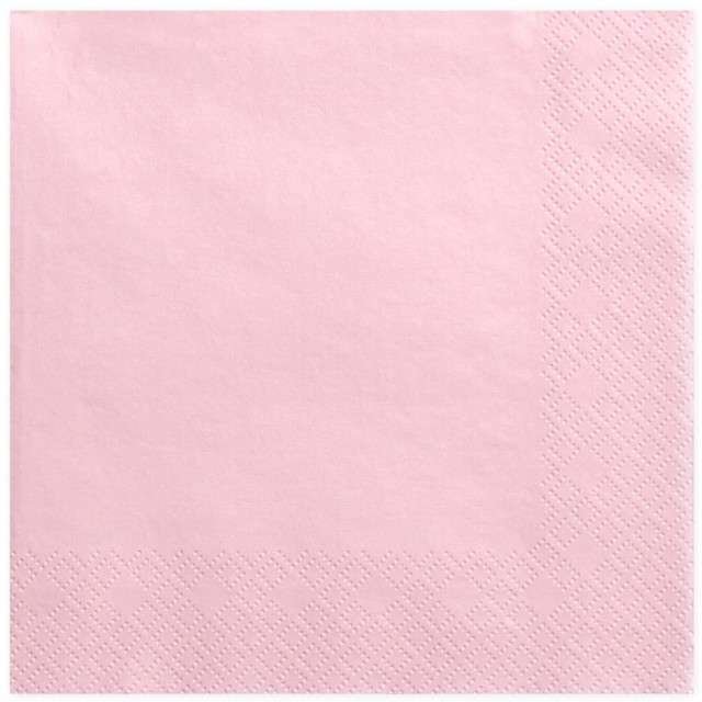 """Serwetki """"Dinner Classic"""", różowe jasne, 40 cm, 20 szt"""