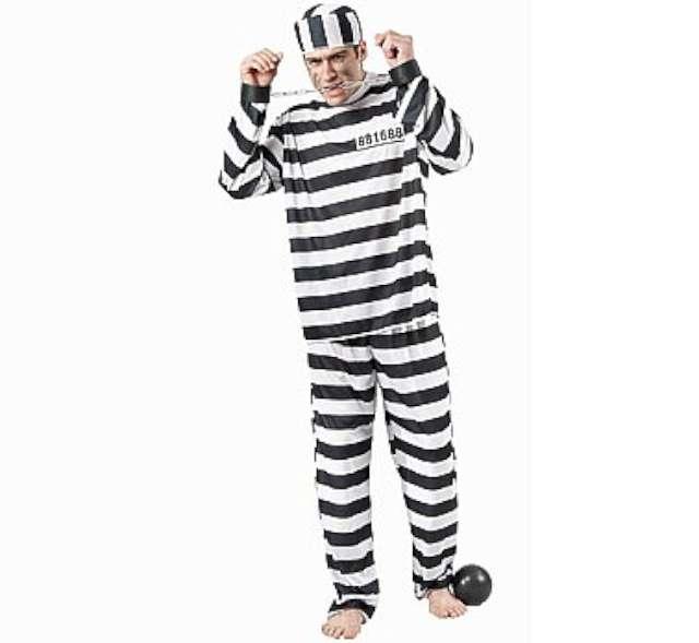 """Strój dla dorosłych """"Więzień"""", Godan, rozm. uniwersalny"""