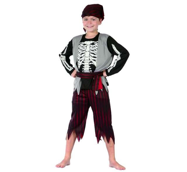 """Strój dla dzieci """"Pirat Szkieletor"""", rozm. 130/140 cm"""