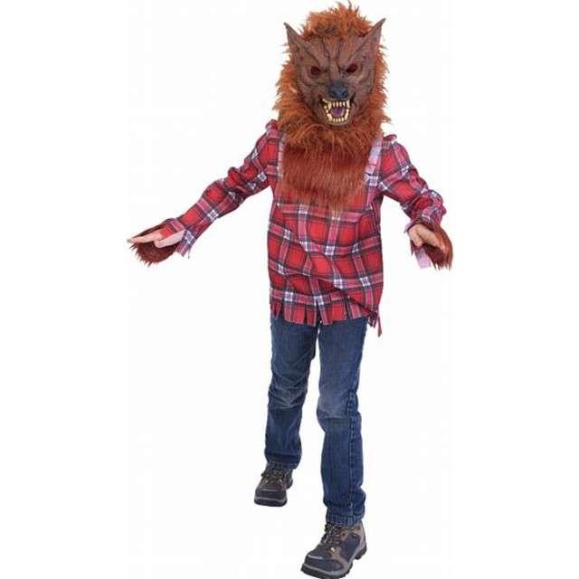 """Strój dla dzieci """"Wilkołak brązowy"""", rozm. 120/130"""