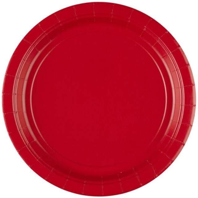 """Talerzyki papierowe """"Premium AMSCAN L"""", czerwone, 22,8 cm, 8 szt"""