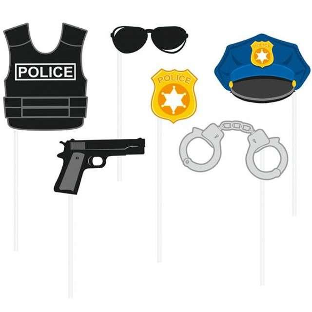 """Fotogadżet patyczki """"Policja"""", 6 szt"""