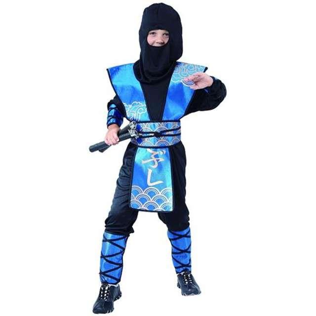 """Strój dla dzieci """"Ninja niebieski"""", rozm. 120/130"""