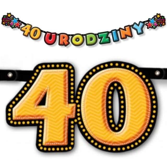 "Baner ""40 Urodzinki"", 195 cm"