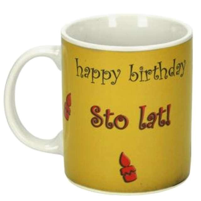 Magiczny kubek STO LAT / HAPPY BIRTHDAY