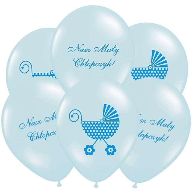 """Balony 14"""", """"Nasz Mały Chłopczyk"""", STRONG, Baby Blue, 6 szt"""