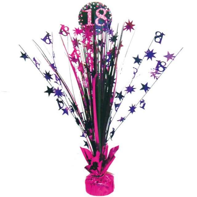 """Obciążnik do balonów """"Bukiet 18 urodziny"""", różowy, 250 g"""