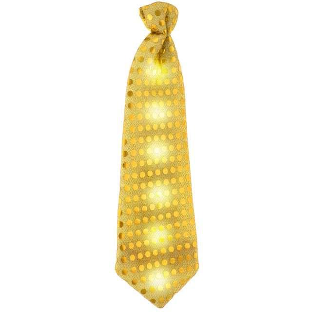 Krawat świecący, cekiny, złoty, GODAN