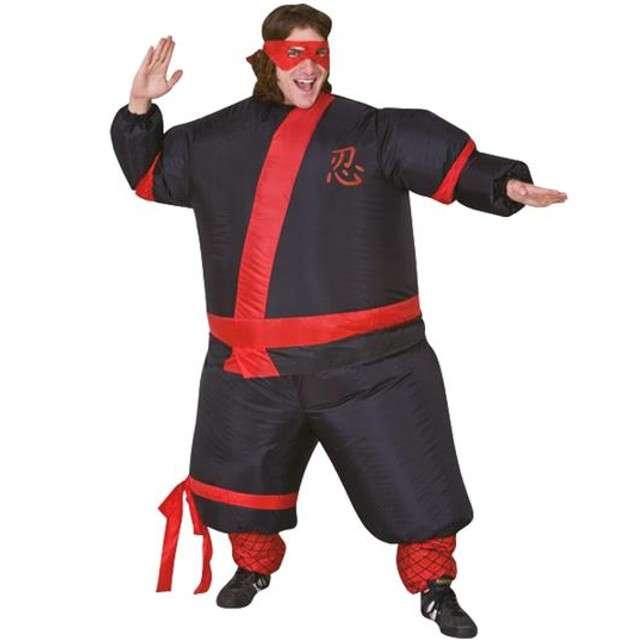 """Strój dla dorosłych """"Ninja"""", GODAN, nadmuchiwany"""