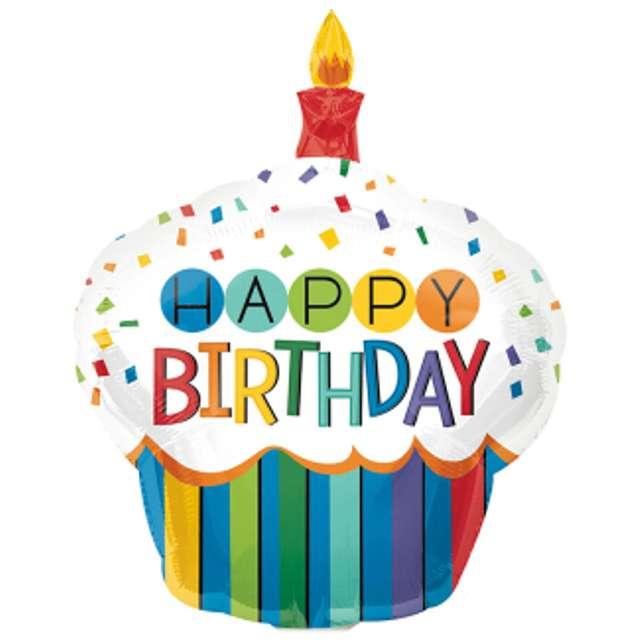 "Balon foliowy ""Cupcake Happy Birthday"", AMSCAN, 11"" SHP"