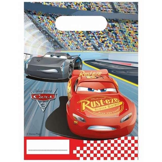 """Torebki foliowe """"Cars 3"""", PROCOS, 17x23 cm, 6 szt"""