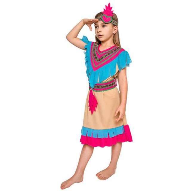 """Strój dla dzieci """"Indianka Różowe Pióro"""", rozm. 130/140 cm"""