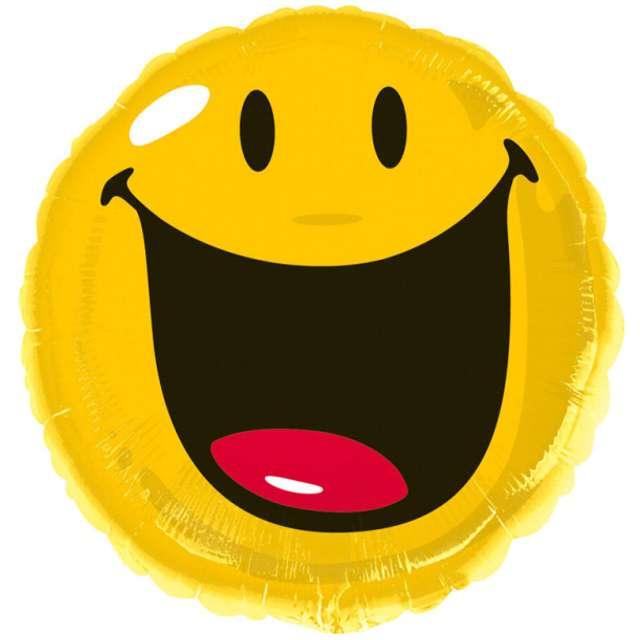 """Balon foliowy """"Smile"""", AMSCAN, 18"""" RND"""