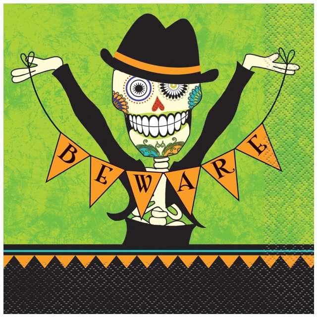 "Serwetki ""Halloween Day of the Dead"", UNIQUE, 33 cm, 16 szt"