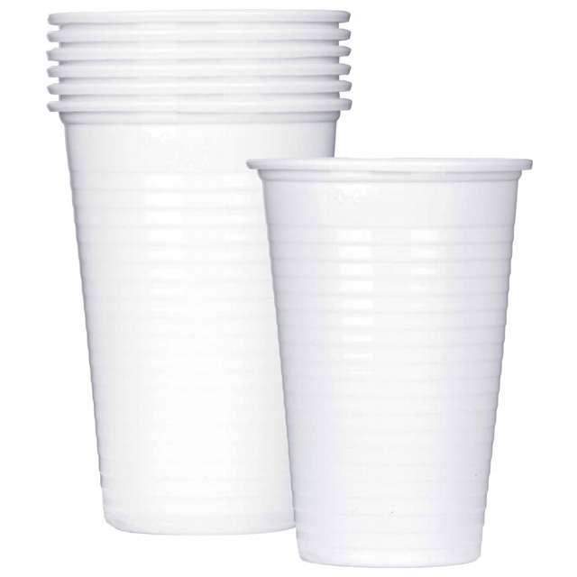 """Kubeczki plastikowe """"Basic"""", białe, 200 ml, 6 szt"""