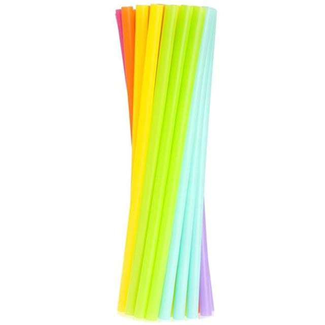 Słomki JUMBO pastelowe , mix kolorów / 18 szt