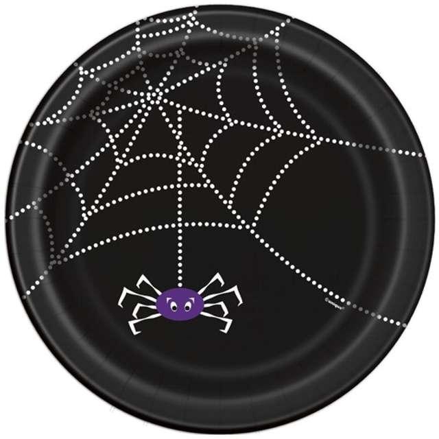 """Talerzyki papierowe """"Pająk i pajęczyna"""", 23 cm, 8 szt"""