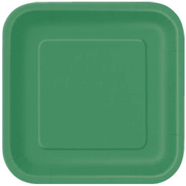 """Talerzyki papierowe """"Kwadrat Classic S"""", zielone, 18 cm, 16 szt"""