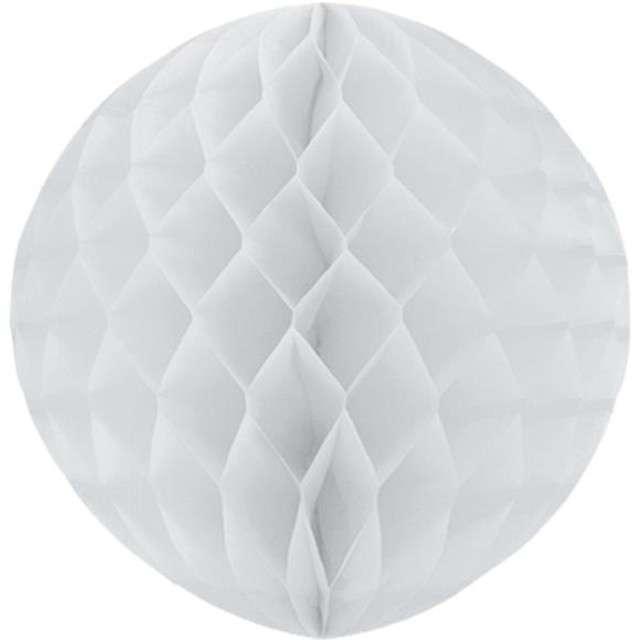 Kula bibułowa, biała, 30 cm