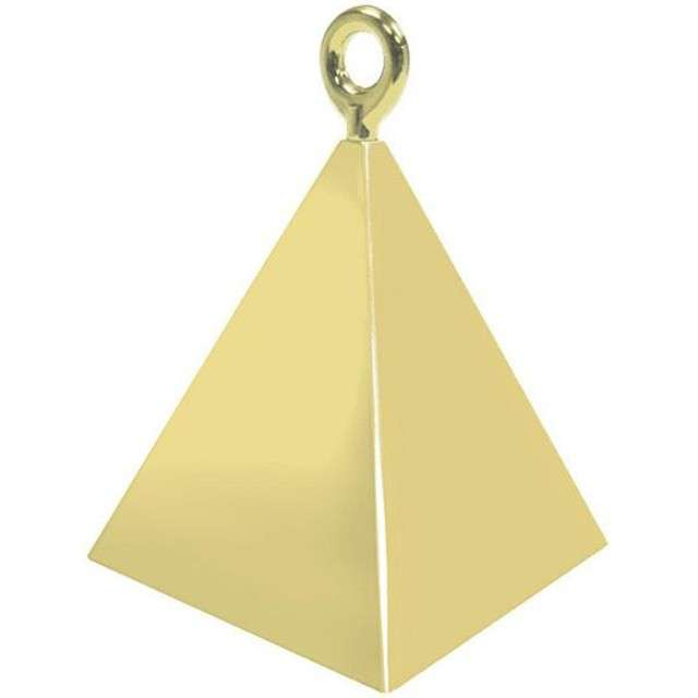 """Obciążnik do balonów """"Piramida"""", QUALATEX, złoty"""