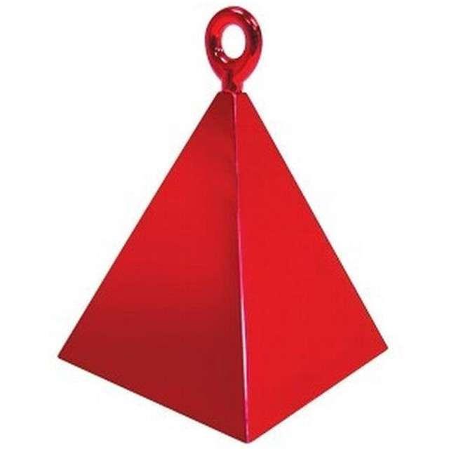 """Obciążnik do balonów """"Piramida"""", QUALATEX, czerwony"""