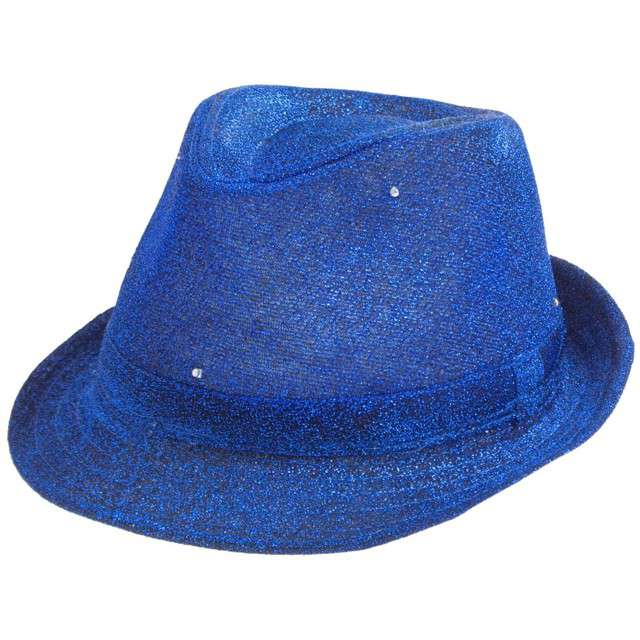"""Kapelusz """"Świecący"""", niebieski brokat"""