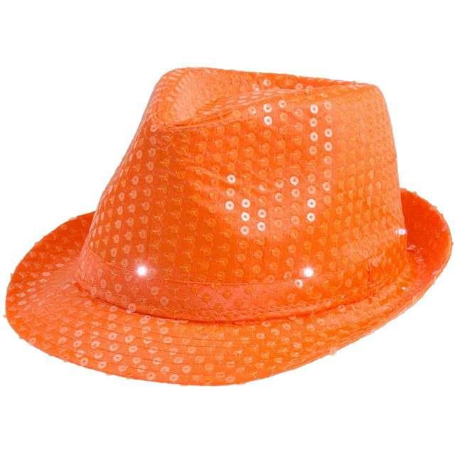 """Kapelusz """"Świecący"""", pomarańczowy neon"""