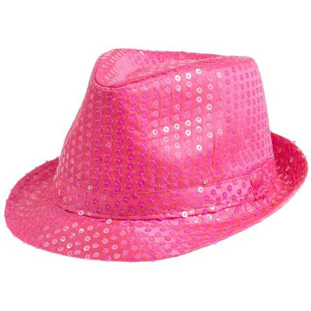 """Kapelusz """"Świecący"""", różowy neon"""